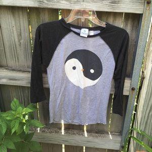 Cute ying yang penguin top!!